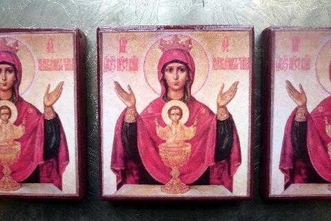 Icône de la Vierge au Calice, Icône de la Vierge des Lumières, Icône de Saint Moïse, Icone de la Vierge Consolatrice des Affilgés, Icône Russe de l'Ange Gardien, Icones Antiques des Archanges...