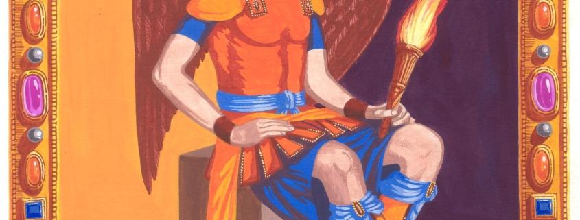 Ariel veut dire « Feu de Dieu » en Hébreu.Mais la racine AR ou AOR est plus lointaine, puisqu'elle provient du sanscrit ou elle signifie « feu créateur, énergie divine ». Son symbole est une torche flamboyante et lumineuse. Ariel a hérité, après la chute de Lucifer, le droit d'être « Porteur de Lumière ». Ce feu n'est pas un élément destructeur, mais une énergie qui permet de voir le chemin divin. Pour en savoir plus sur les protégés d'ARIEL, cliquez ici.