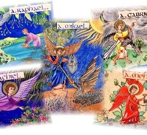 Icônes Enluminées des Archanges Protecteurs